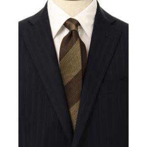 ネクタイ/レギュラータイ/メンズ/ストライプ×織柄 クレリックネクタイ イエロー系 uktsc