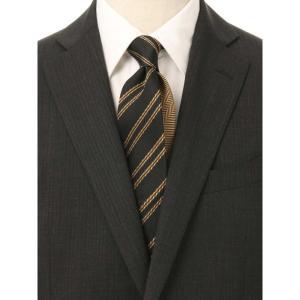 ネクタイ/レギュラータイ/メンズ/ストライプ×織柄 クレリックネクタイ ブラック系|uktsc
