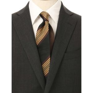 ネクタイ/レギュラータイ/メンズ/ストライプ×織柄 クレリックネクタイ ブラック系 uktsc