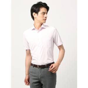 カジュアルシャツ/メンズ/ノンアイロンジャージー/WE SUIT YOU/ストライプ柄ホリゾンタルカラーシャツ ピンク×ホワイト|uktsc