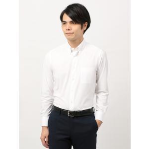 ドレスシャツ/長袖/メンズ/ノンアイロンジャージー素材/WE SUIT YOU/ボタンダウンカラードレスシャツ ホワイト|uktsc