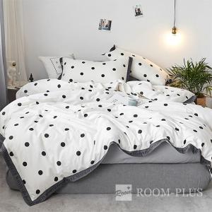 布団カバーセット Mサイズ 4点セット 白黒 モノトーン bedding-0580