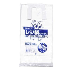 レジ袋30号 白 100枚入 ジャパックス RE30|1805KBTT^