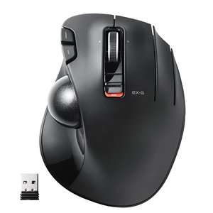 マウス トラックボール ワイヤレス 6ボタン ブラック ELECOM M-XT3DRBK M-XT3...