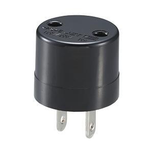 オーム電機 変換プラグ ブラック Φ3.3×4.4cm