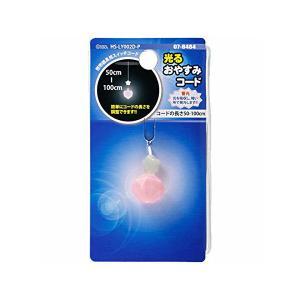 OHM 光るおやすみコード ダイヤ ピンク HS-LY002D-P
