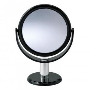 10倍拡大鏡付きの2面ミラースタンドミラー 360度回転 化粧鏡|ulmax