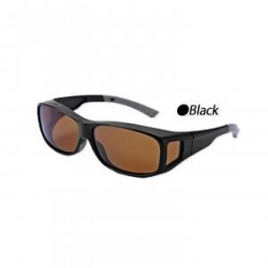 偏光オーバーグラス ブラック男女兼用 サングラス メガネの上 ulmax