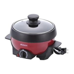 アビテラックス ミニグリルパン APN-16G-R電気鍋 フタ付き 魚焼き|ulmax