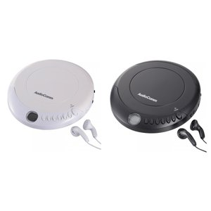 AudioComm ポータブルCDプレーヤーおしゃれ ランダム再生 2電源対応|ulmax