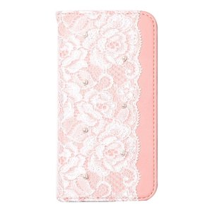 abbi iPhone8/7 Lace Diary ピンク|ulmax