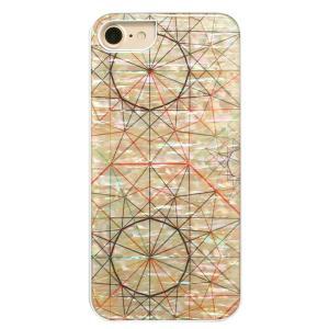 ikins iPhone8/7 天然貝ケース Artist ホワイトフレーム|ulmax