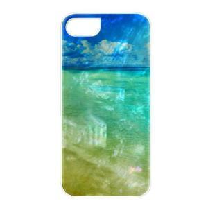 ikins iPhone8/7 天然貝ケース Beach ホワイトフレーム ulmax