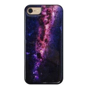 ikins iPhone8/7 天然貝ケース Milky way ブラックフレーム|ulmax
