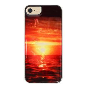 ikins iPhone8/7 天然貝ケース Sunset ホワイトフレーム ulmax