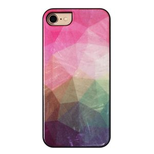 ikins iPhone8/7 天然貝ケース Water flower ブラックフレーム ulmax