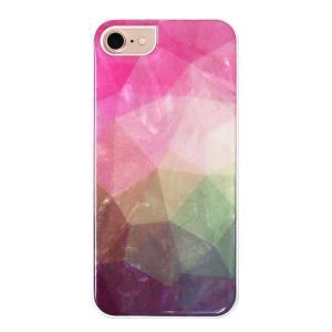 ikins iPhone8/7 天然貝ケース Water flower ホワイトフレーム ulmax