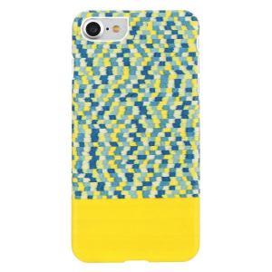 Man&Wood iPhone8/7 天然木ケース Yellow Submarine ホワイトフレーム ulmax
