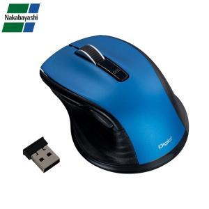 ナカバヤシ Digio2 F_line 小型 無線 静音5ボタンBlueLEDマウス ブルー MUS-RKF141BL|ulmax