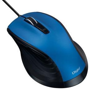 ナカバヤシ 大型 有線 静音5ボタンBlueLEDマウス ブルー MUS-UKF148BL|ulmax