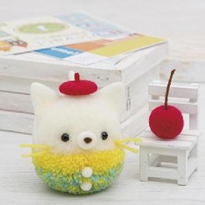 毛糸とアクレーヌの異素材の組み合わせでかわいいマスコットができました。 生産国:日本 商品サイズ:猫...