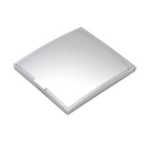 メリー 片面約5倍拡大鏡付コンパクトミラー Sサイズ シルバー AD-105メイク 卓上鏡 化粧鏡|ulmax