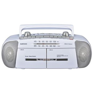 OHM AudioComm ダブルラジオカセットレコーダー RCS-371Z|ulmax
