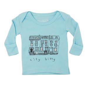 L'ovedbaby Babe In The City グラフィック ロング スリーブ Tシャツ bitc-301 アクア・18〜24ヵ月 ulmax