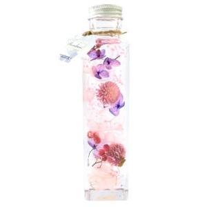 風水ハーバリウム ピンク/恋愛運 D30020Mドライフラワー プリザーブドフラワー 枯れない花
