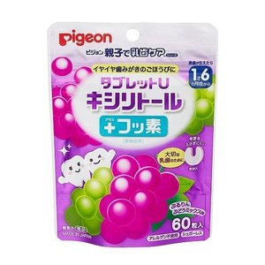 Pigeon(ピジョン) 乳歯ケア タブレットU キシリトールプラスフッ素 60粒 ぷるりんぶどうミックス味 03949|ulmax