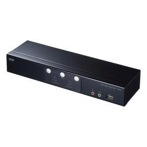 サンワサプライ DVIデュアルモニタ対応パソコン自動切替器(2:1) SW-KVM2DMDU|ulmax