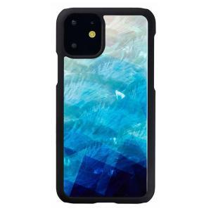 ikins(アイキンス) iPhone 11 天然貝ケース Blue Lake I16880i61R|ulmax