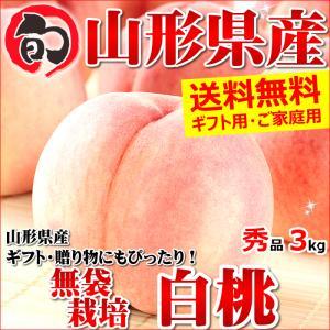 【出荷中】ギフト 桃 山形県産 白桃 3kg(秀品/無袋栽培/7玉〜13玉入り/キャップ・トレー仕様)|ultra-taste