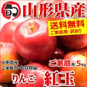 【あすつく対応/出荷中】山形県産 ご家庭用 りんご 紅玉(こうぎょく) 5kg(14玉〜30玉入り/生食可/加工用)|ultra-taste