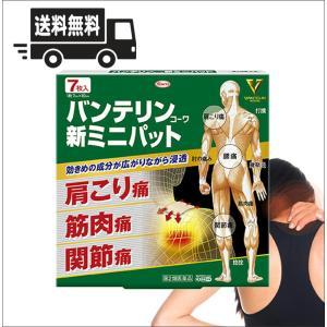 【送料無料・定形外郵便・同梱不可】バンテリンコーワ新ミニパット 7枚