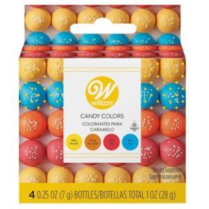 WILTON (ウィルトン)プライマリーキャンディカラーセット (イエロー オレンジ レッド ブルー ) チョコレート色素