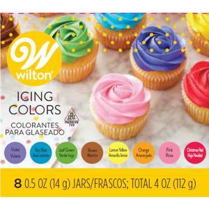 WILTON (ウィルトン)アイシングカラー 8カラーキット 0.5oz Wilton Icing ...