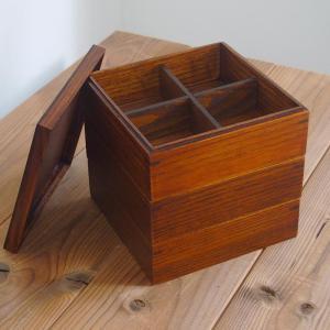 重箱 木製 おしゃれ 3段 2人〜3人用 木製 ウルトラミッ...