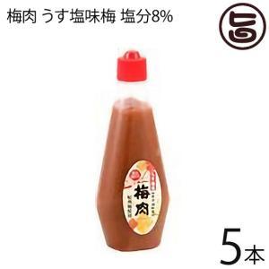 梅肉 うす塩味梅 (塩分8%) 340g×5本 濱田 梅肉ソース 梅肉チューブ クエン酸 リンゴ酸 ...