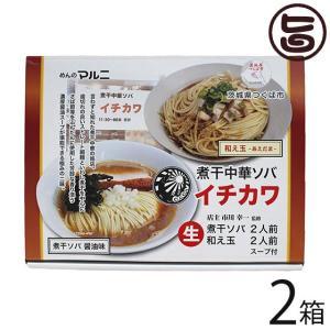 煮干ソバ 和え玉セット×4食×2箱 めんのマルニ イチカワ 監修 茨城県つくば ご当地ラーメン 2種類のスープ付  条件付き送料無料|umaimon-hunter