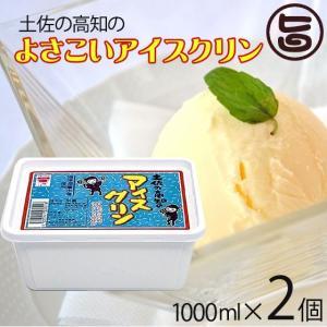 よさこいアイスクリン 1000ml×2個 さめうらフーズ 高知の夏の味 ご当地アイス 冬アイス  条...