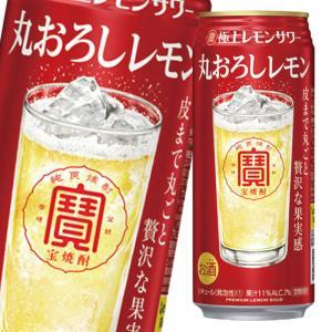宝酒造 寶 極上レモンサワー 丸おろしレモン500ml缶×2ケース(全48本)【送料無料】