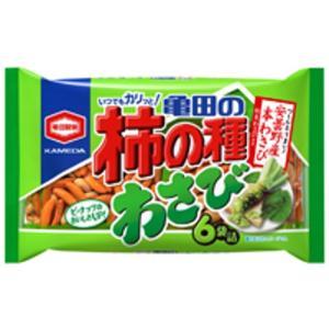 うまい村デイリー 亀田製菓 亀田の柿の種 わさび 6袋詰 182g x12
