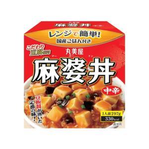 うまい村デイリー 丸美屋 麻婆丼 中辛 ごはん付き カップ 297g x24|umaimura
