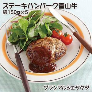 グランマルシェタケダ  氷見牛入ビーフ100%ハンバーグソースイン 約150gx3個|umaimura