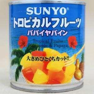 サンヨー堂 トロピカルフルーツ パパイヤパイン 425g EOK3号缶 大きめひとくちカット|umairadotcom