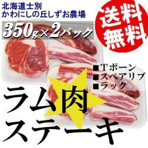 ラム肉 ステーキ バーベキュー Tボーン スペアリブ ラムチョップ サフォーク種 700g 北海道士別しずお農場 送料無料 贈答品 お取り寄せ|umakore