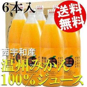 愛媛県 西宇和産温州みかん100%ジュース(1L×6本) 送料込 送料無料 国産 オレンジジュース ストレート ギフト 取り寄せ 詰め合わせ