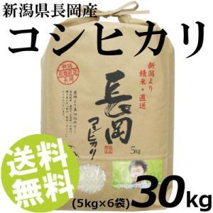 お米 30kg 白米 コシヒカリ 新潟県長岡産 精白米 5kg×6袋 送料無料 贈答品 お取り寄せ|umakore