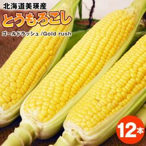 とうもろこし ゴールドラッシュ12本【送料無料】北海道美瑛産特別栽培農産物 フル−ツトウモロコシ も...